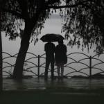 Sharing an Umbrella