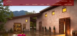 Homepage design Orofino winery
