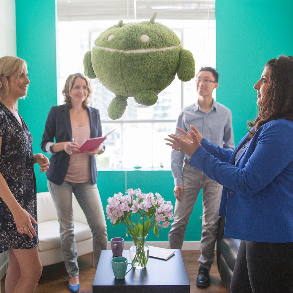 Marketing Huddle with Android | Cucumber Marketing Inc.