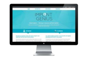 Vancouver web design for Implant Genius