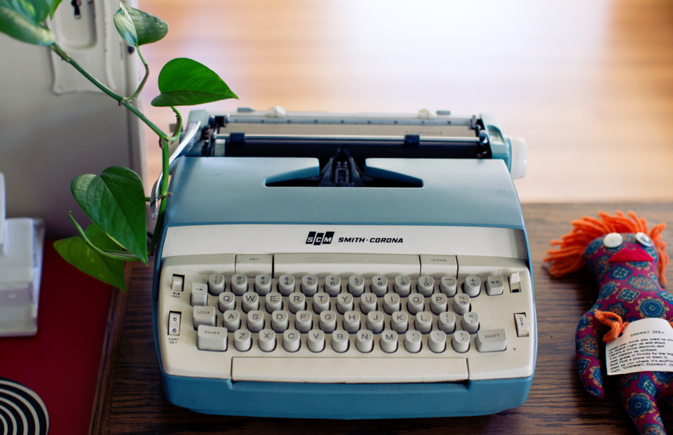 SEO keyword typewriter metaphor