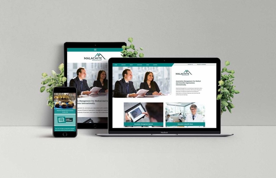 Responsive web design for Vancouver company, Malachite Management