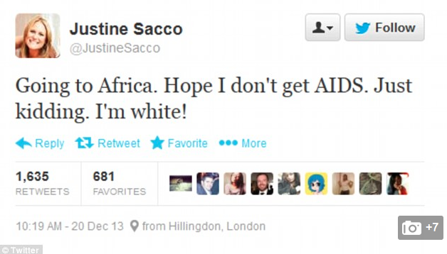 PR exec who sparked outrage with racist tweet