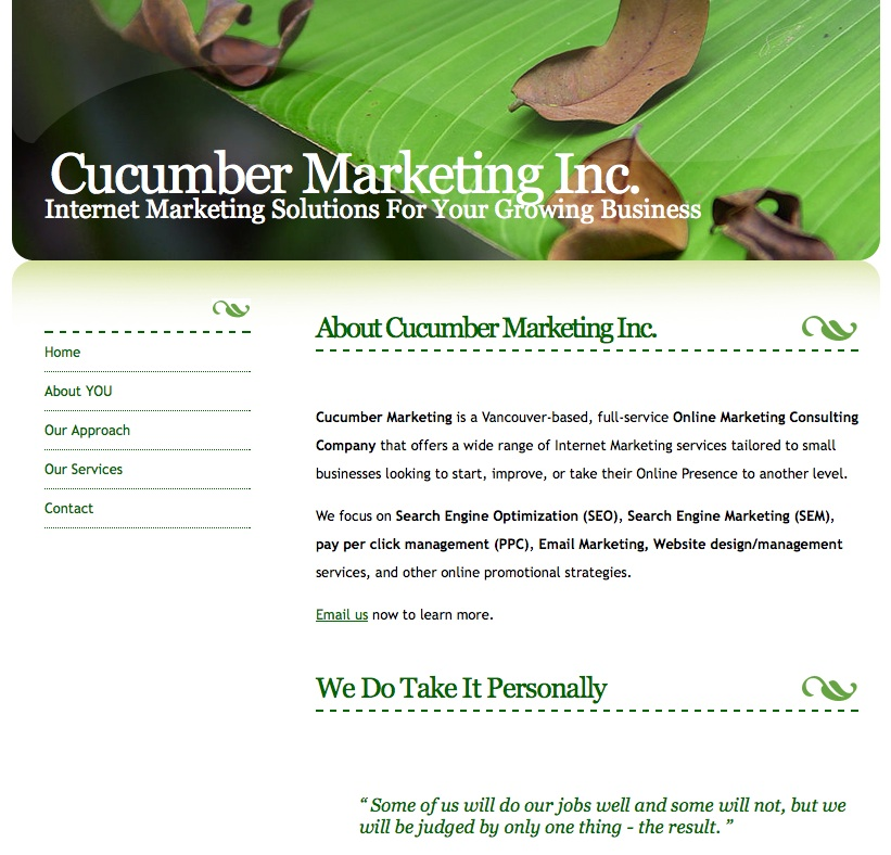 Cucumber-Marketing-Website-2008