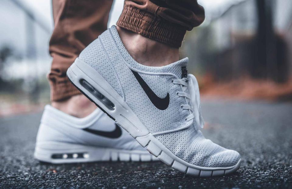 Nike branding on shoe