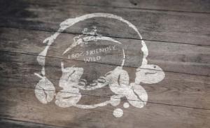 Frog Friendly Wild coffee branding and logo
