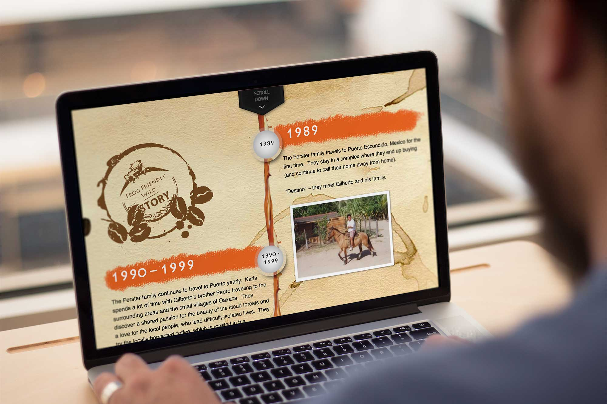 Coffee website design