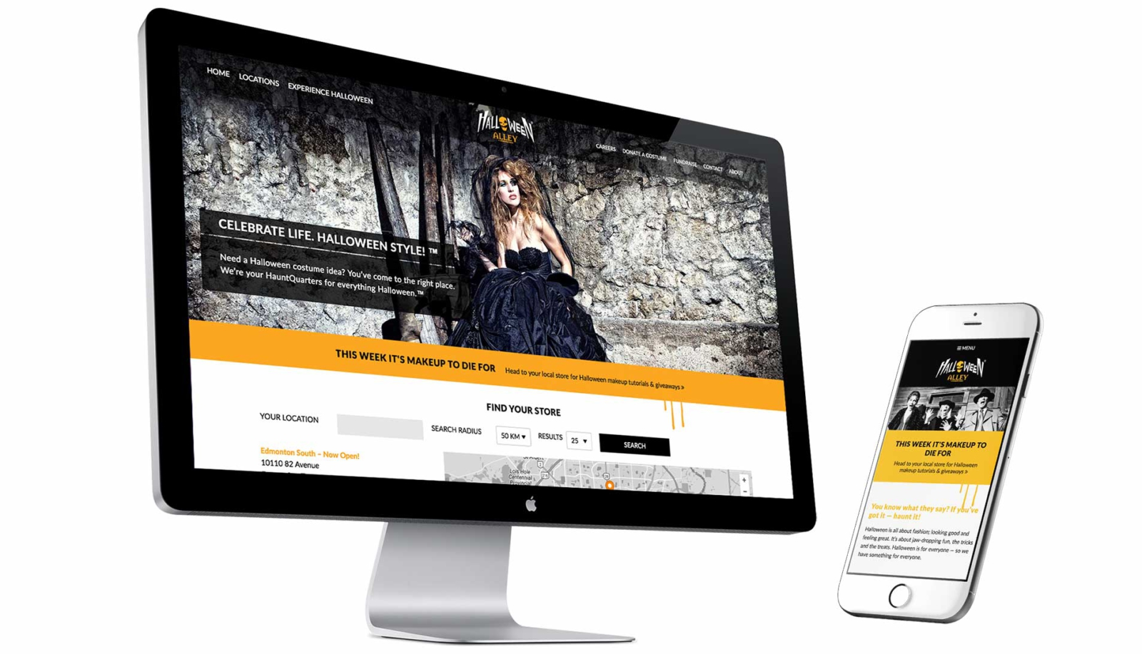 Responsive, mobile-friendly website for retail brand