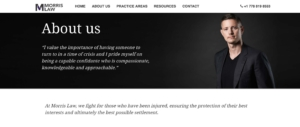 Morris Law website about page