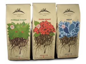 Packaging and Branding Design | Frog Friendly Wild coffee