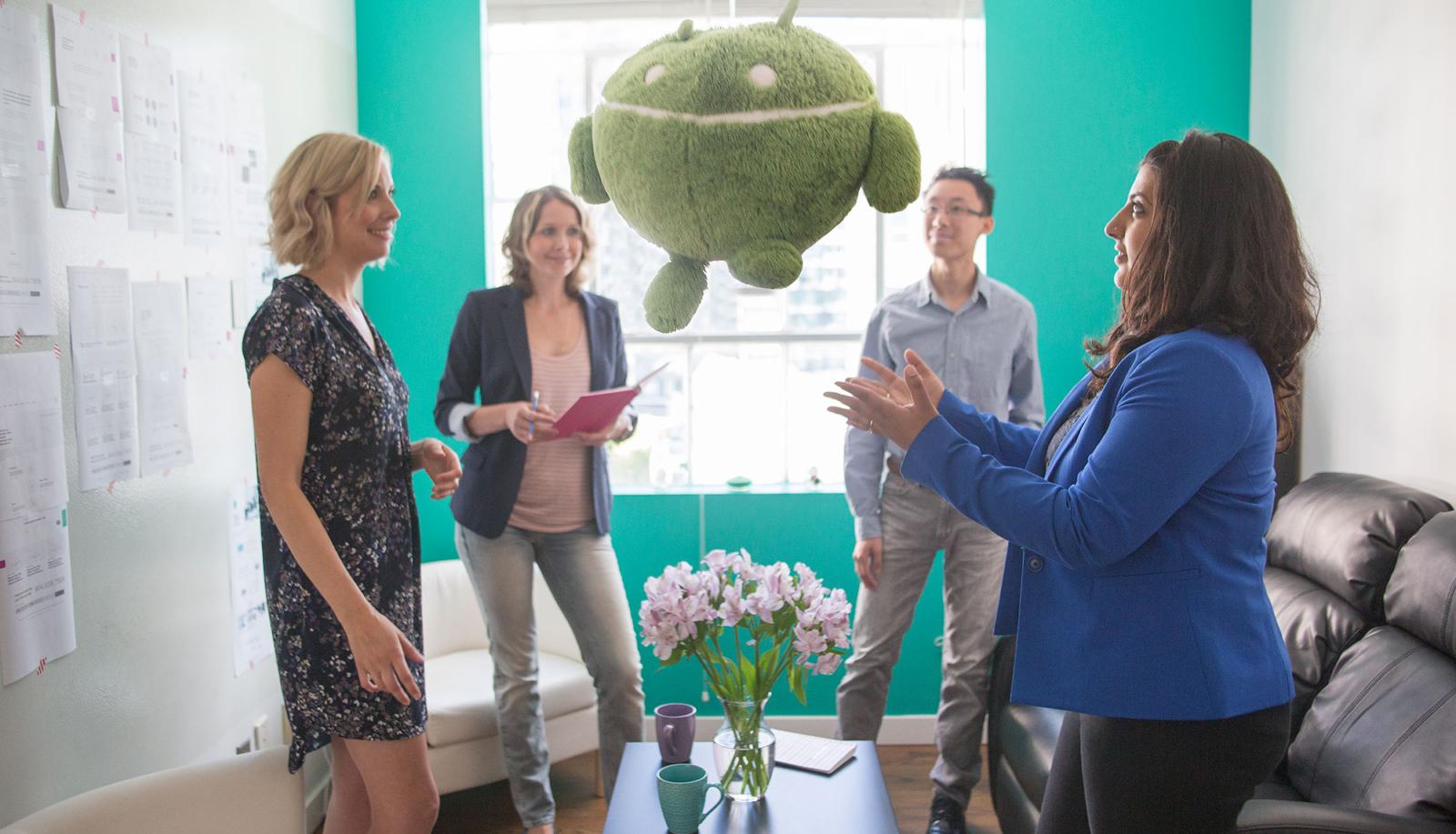 Marketing agency huddle