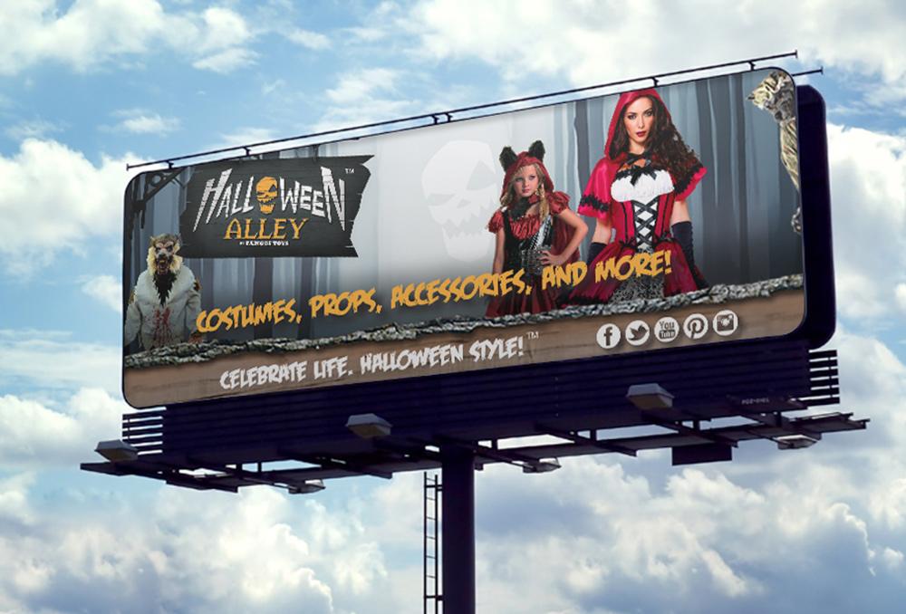 Halloween Alley Billboard | Marketing and Branding Strategy
