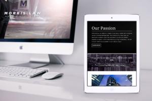 Responsive, website design | Morris Law