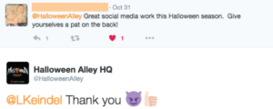 Halloween Alley Twitter agency
