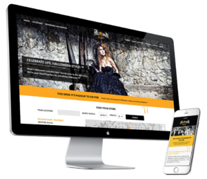 Halloween Alley responsive website