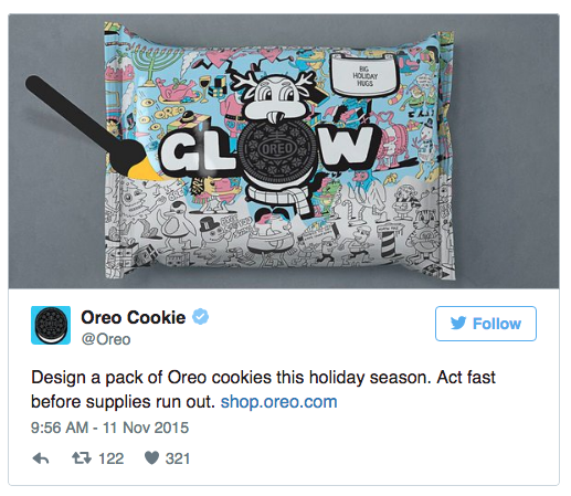 oreo cookie ad urgency