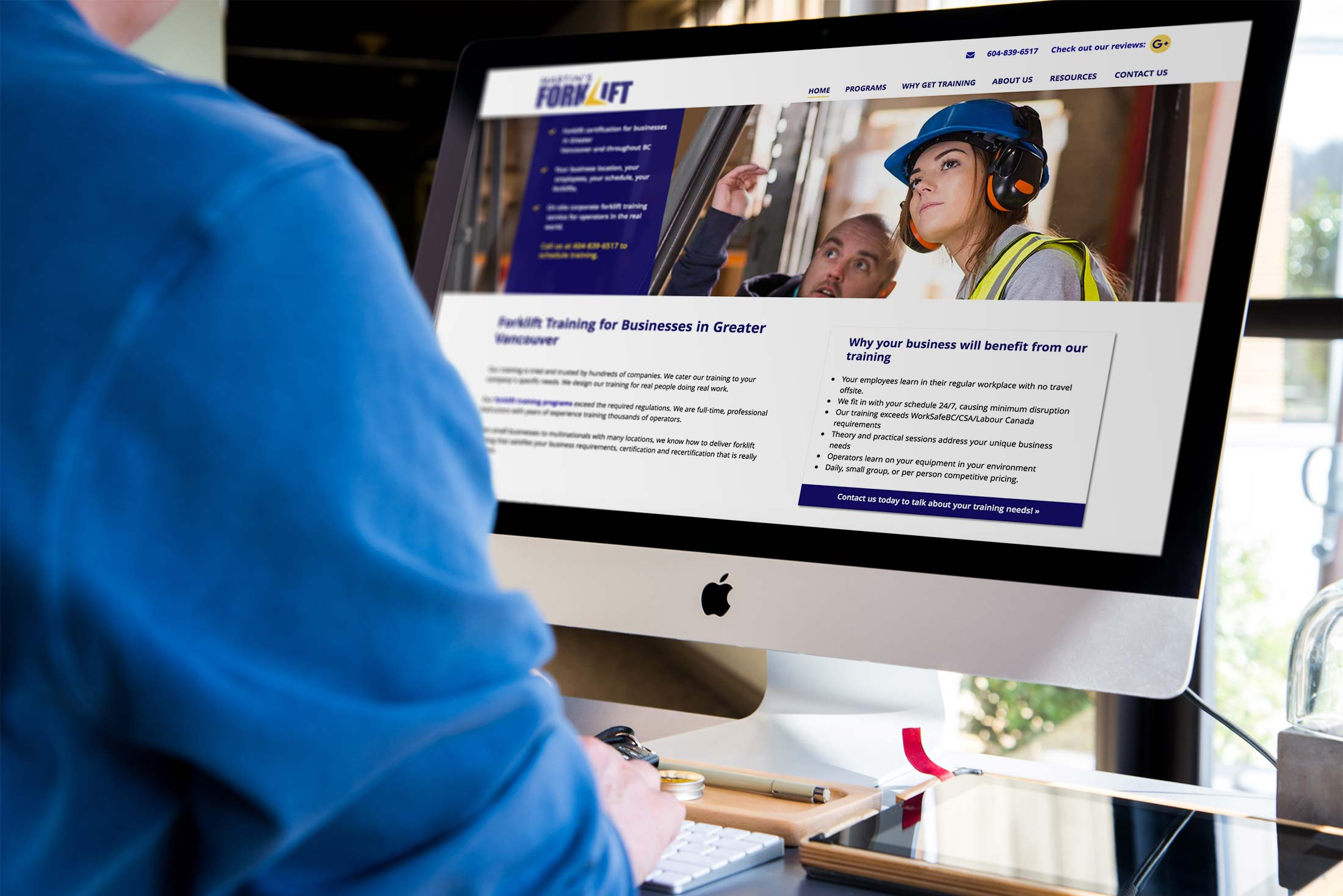 Web design case study for a forklift training company visit site 1betcityfo Images