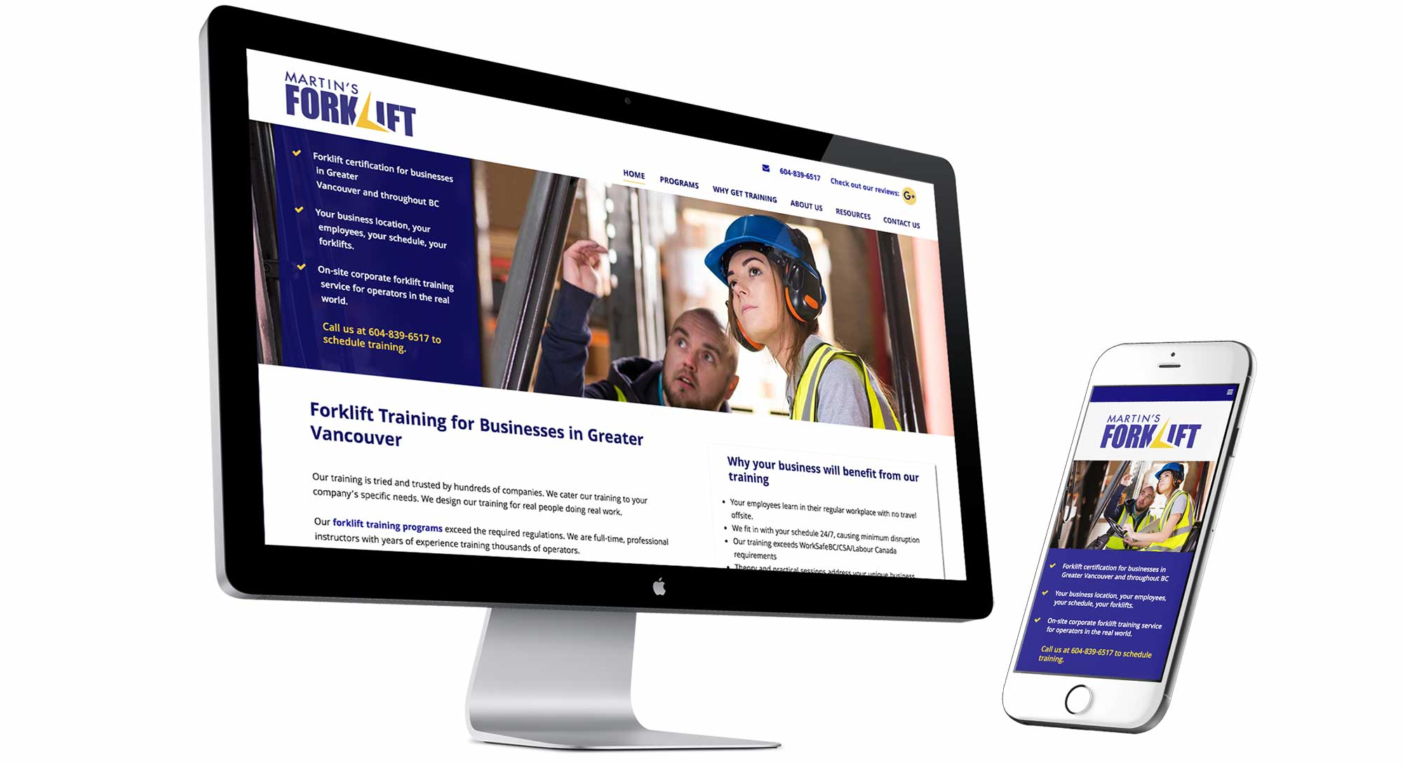 Web design case study for a forklift training company there is some type of forklift accident every day in north america scary thank goodness for trainers like martins forklift 1betcityfo Images