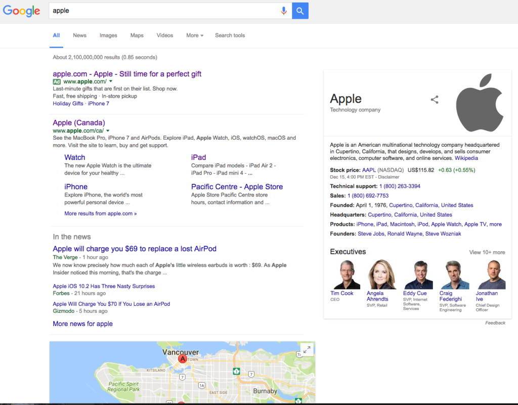 apple seo search