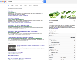 cucumber seo search