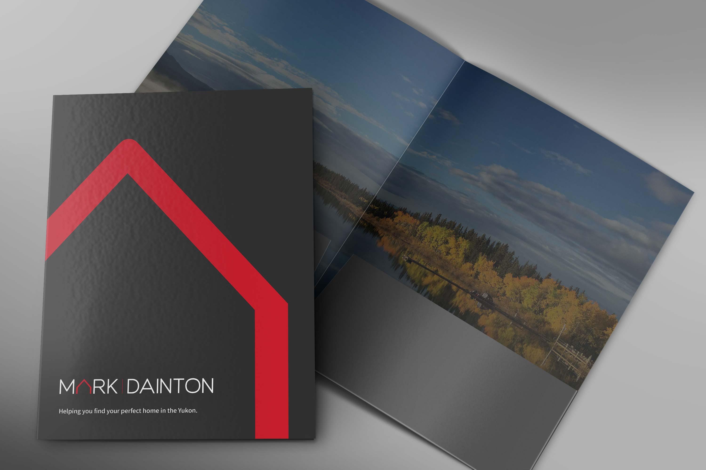 Print presentation folder design