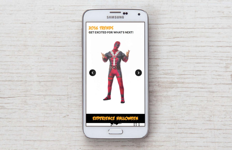 Mobile, responsive website on iPhone for Halloween Alley