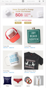Zazzle email marketing campaign