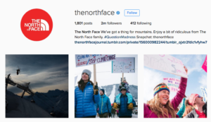 Social media - North Face