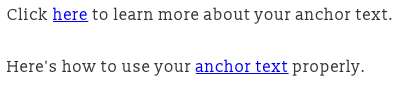 photo showing how to use anchor text properly