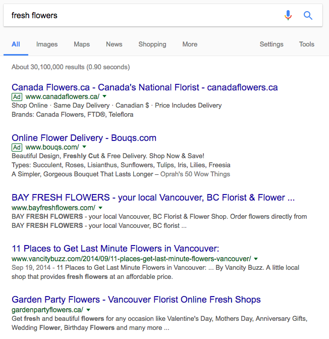 fresh-flower-ppc-ads