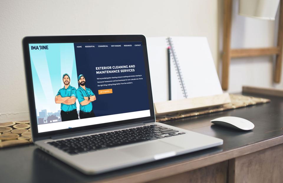Responsive, growth-driven design website for Imagine Maintenance