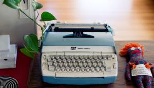 SEO keyword typewriter metaphor