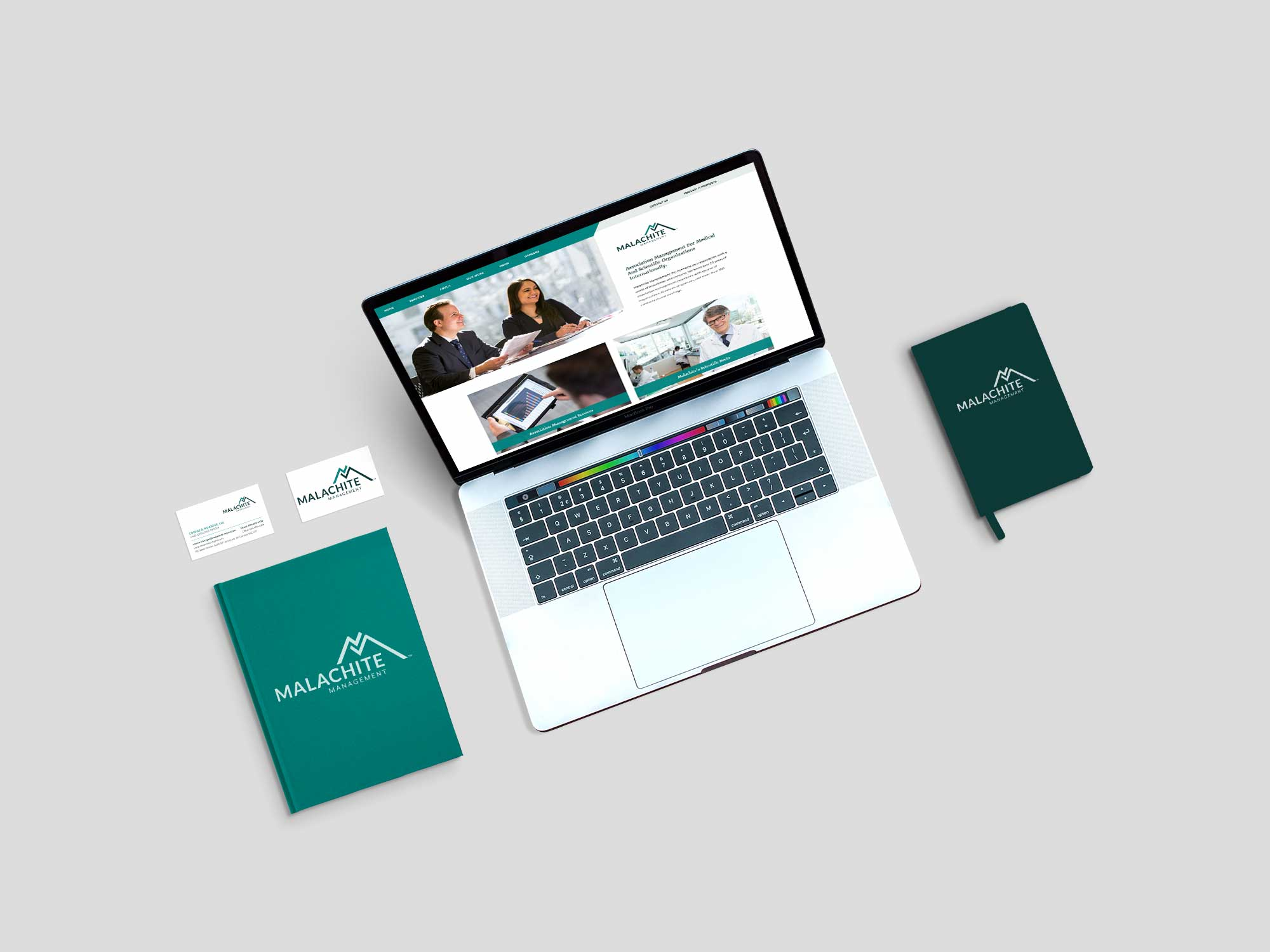 Branding business cards and website design