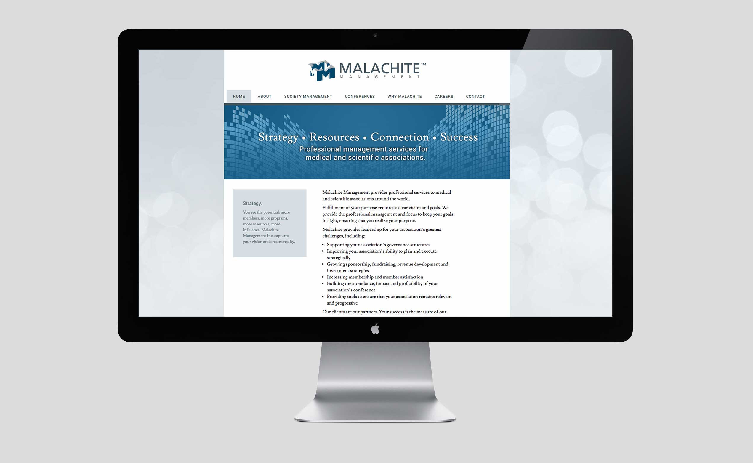 Malachite Management website before redesign