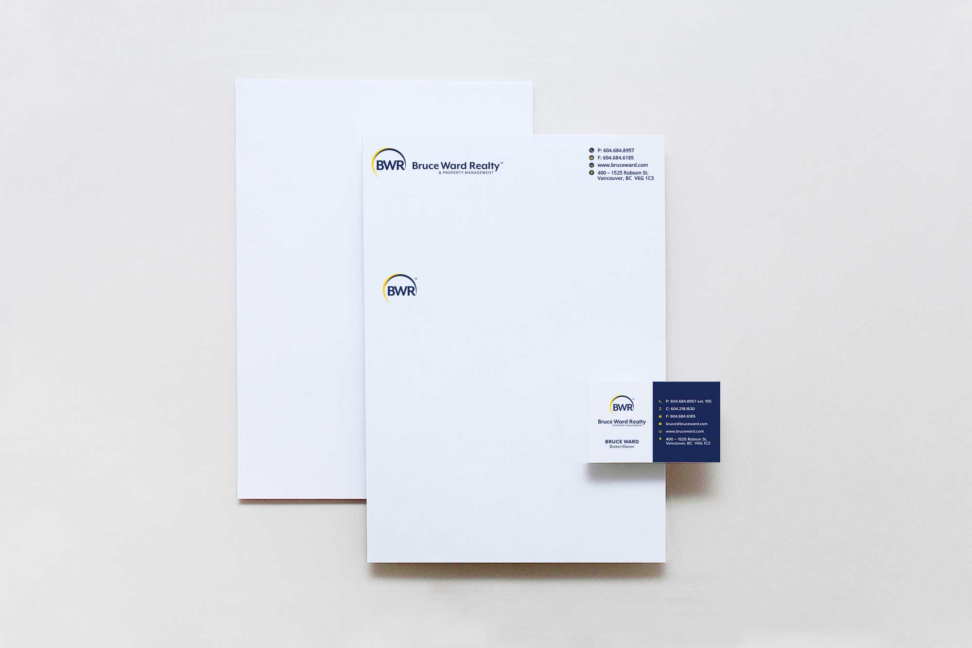 Print brand assets, stationary, letterhead, business cards design