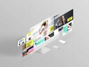yogahive- web design - screens-mockup