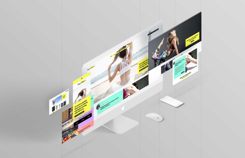 yogahive- web design - screens-mockup