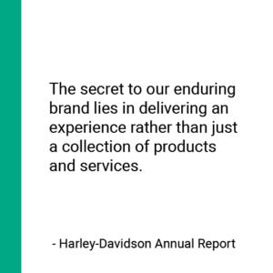 Harley-Davidson branding quote