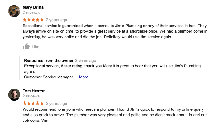 Sydney Plumber Reviews