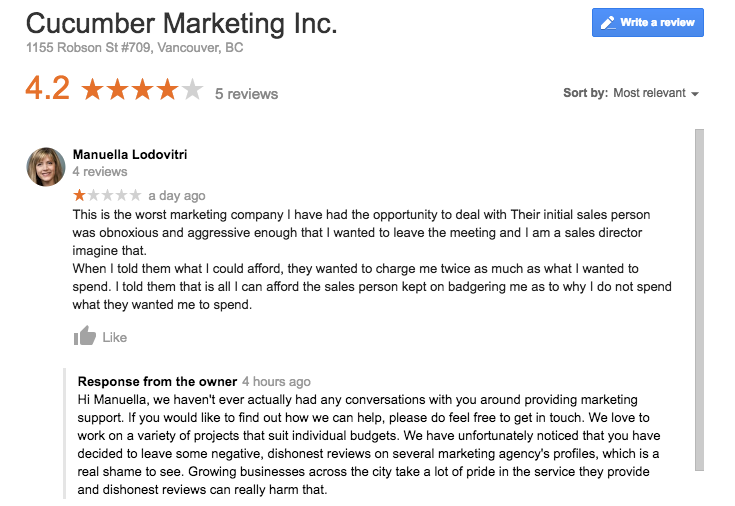 Fake marketing and web design agency review