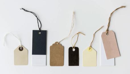 a bundle of tags