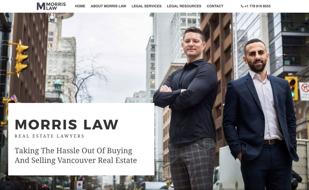 Morris Law Hero Banner Web Design